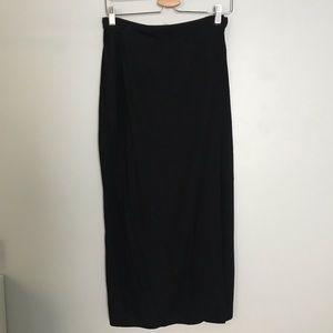 GAP black wrap skirt